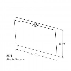 Ulrich D or A1 size, 24 x 36, Flat File Folders for organizing Maps and Plans in flat file cabinet
